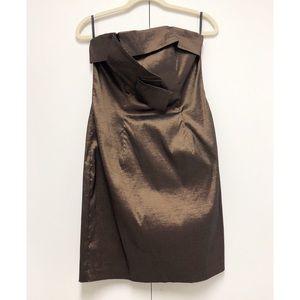 Metallic Antique Bronze Jessica McClintock Dress